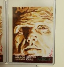 BRITISH HORROR Unstoppable Cards Hammer Frankenstein SKETCH CARD by CLAY SAYRE