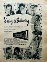 Technicolor Technirama Seeing Is Believing Vintage Advertisement 1957
