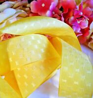 """Yellow Ribbons 5 Yards 1 1/2"""" Wide Wired Birthday Bow Wedding Gift Spring Crafts"""