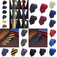 Men's Jacquard Woven Necktie Narrow Polyester silk Tie Party Wedding Skinny Slim