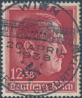 Lot Stamp Germany Mi 664 Sc B118 1938 WWII 3rd Reich Hitler Birthday U FDC