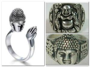 Chinese tibet silver laughing Buddha Or Tribal ring