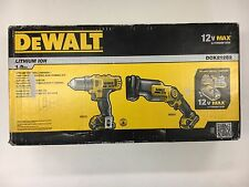 "DeWalt #DCK212S2: 12v MAX 3/8"" Drill-Driver & Pivot Reciprocating Saw Combo Kit"