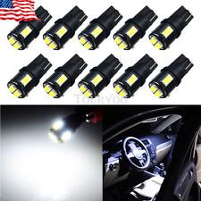 10X 6000K White 2825 W5W T10 168 194 921 Interior/License Plate LED Light Bulb