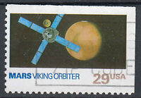 USA Briefmarke gestempelt 29c Mars Viking Orbiter aus Markenheft / 175
