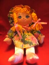 "Fishel Toys ltd rag  Doll  soft toy 9"" approx"