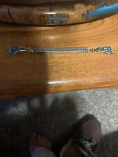 Old Pawn Zuni Needlepoint Turquoise Sterling Watch Tips