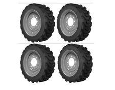 12-16.5 Skid Steer Tire Set of 4 12x16.5 Heavy Duty Power King Rim Guard 12 Ply