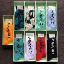 Unisex Crew Socks off white* Sock Hip Hop Streetwear Custom Crew fashion Socks