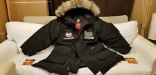 2018 Custom Order 4XL 5XL Red Label Edition Black Canada GOOSE Snow Mantra Parka