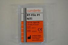 6 Stück Cumdente RT File #1 NiTi Iso 30 taper 08 23mm  Zahnarzt