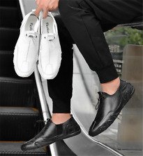 Men Sofe Octopus Sole Casual Leather Shoes Round Toe Non-slip Loafers Slip On