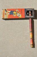 Vintage Krishna Taru Brand Unique Litho Baby Rattle Tin Toy , Japan