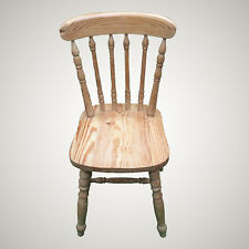 Refurbished Vintage Ash Kitchen Dining Chair ... Sandblastded & Waxed