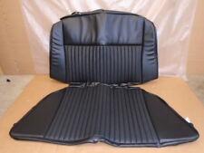 Triumph STAG ** REAR SEAT COVER SET ** BLACK VINYL - BACK+BASE