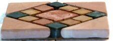 Naturstein Rosone, 10 x 10cm, Marmor, Antik, Mediterran, Mosaik, R201