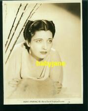 KAY FRANCIS VINTAGE 8X10 PHOTO 1930's WARNER BROS PORTRAIT