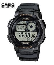 Reloj Digital CASIO AE-1000W-1AV - Hora Mundial - 5 Alarmas - 10 BAR