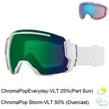Smith Optics I/O 7 Snowmobile Goggles (Whiteout/ChromaPop Everyday Green Mirror)
