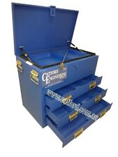 Tradesman Ute and Truck Toolbox, Heavy Duty Tool Box, 3 Drawer Flat Top Blue