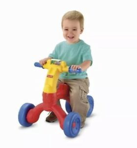 Fisher-Price Bright Beginnings Ready Steady Trike Childrens Pedal Ride Ons, New