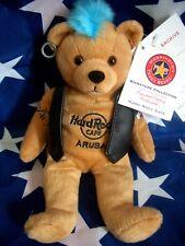 HRC Hard Rock Cafe Aruba Punk Bear Mohawk 2009 Blue Hair Herrington