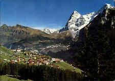 MÜRREN Berner Oberland Kanton Bern Schweiz ~1970/80 Berge Wetterhorn Eiger Mönch
