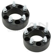 """2x 2"""" BLACK Wheel Spacers 5x4.5 fit FORD Mustang hotrod classic 5lug Shelby Boss"""
