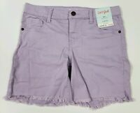 Cat & Jack Girl's Shorts Purple Factory Cutoff Sizes 4/5 to 10/12 Snap Front