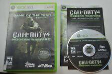 Call of Duty 4 Modern Warfare Game of the Year Microsoft Xbox 360 COMPLETE CIB