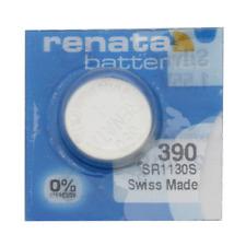 Renata 390 Uhrenbatterie SR1130S Silver 1,55 V ED: 2/2021