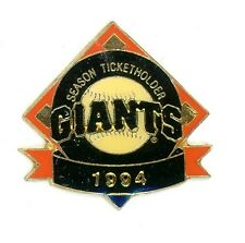 SF Giants Season Ticket Holder Pin 1994 Imprinted Products san francisco g12