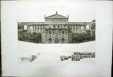 173 ~ Rome TEMPLE OF SUN RESTORED ~ 1910 Classical Roman Architecture Art Print