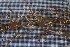 "40"" Pip Berry Garland with Rusty STARS  -  BURGUNDY & GOLD"