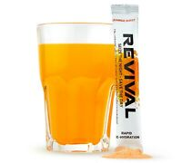 Revival Shots,Rehydration Electrolytes Powder Sachets, Vitamins + Minerals