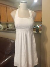 Anthropologie Maeve White Crocheted Halter Top Dress Size 4 or S