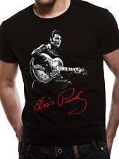 Elvis Presley Signature T-Shirt Licensed Top Black L