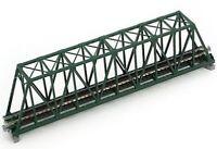 """N scale Gauge 248mm 9-3/4"""" Truss Bridge Green by Kato"""