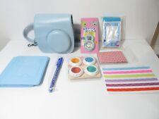 Fujifilm Instax Mini Leather Case & Accessory Kit (Blue), NEW, FREE SHIPPING!!!