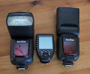 Godox TT685F flash (x2) and R2 remote for Fujifilm/Fuji cameras