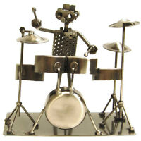 NUTS & BOLTS DRUMMER Player Recycled METAL FIGURINE SCULPTURE ART