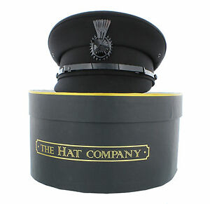 Chauffeur Cap in Black or Grey with Storage Box option from The Hat Company
