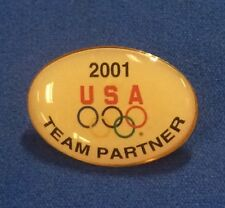 2001 USA OLYMPIC Team Partner Lapel Pin