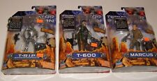 3 TERMINATOR SALVATION T-600 T-R.I.P. MARCUS MOVIE FIGURE PLAYMATES LOT NEW MOSC