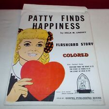 Vintage 1972 PATTY FINDS HAPPINESS FLASHCARD STORY Gospel Publishing House ^