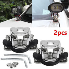 2x Led Work Light Bar Car Mount Bracket Holder For Off-road 304 Stainless Steel