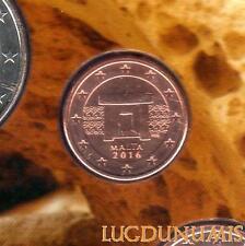 Malte - 2016 - 1 Centime d'euro Poincon F - FDC Provenant BU - Malta