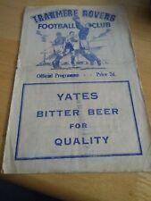 Tranmere Rovers v Chester City 20/3/54