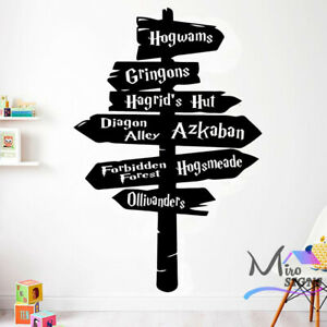 Harry Potter Sign Post Hogwams Wal Decal Wall Sticker Kids Room