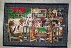 """Vintage Tapestry Of Dogs Playing Poker made in Turkey Man cave Poker 40"""" x 58"""""""